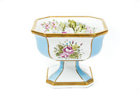 Ceramica d'epoca collezione Coppa centrotavola dipinta a mano floreale
