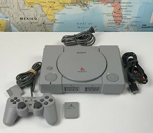 SHIPS SAME DAY Sony PlayStation 1 Console System Bundle PS1 SCPH-9001 Tested