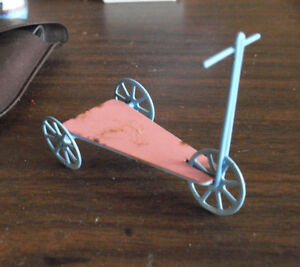 Vintage Dollhouse Accessory Metal Pink and Blue Skooter LOOK
