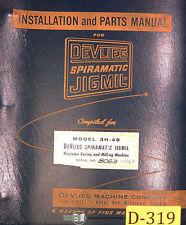 Devlieg 3b 48 Spiromatic Jigmil Installation And Parts Manual Year 1960