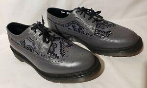 Dr Martens 3989 GREY PAISLEY MIE Oxford Shoes Men US 11 Ostrich Leather 14627020