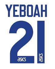 No 21 Yeboah Leeds United Home 1994-1995 Football Nameset for shirt