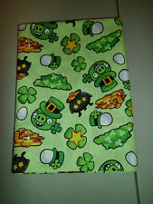 1-Angry Birds Pots of Gold St. Patrick's Day King Size Pillowcase New & Handmade