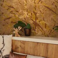 Abstract Wallpaper Bronze Copper Metallic Textured Modern Roll Wall coverings 3D