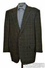 LUCIANO BARBERA Sartoriale Gray Check 100% Wool Blazer Sport Coat Jacket - 46 R