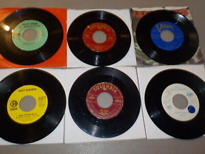 Vern Gosdin Norman Luboff Scott McKenzie Lot of 6 Different Vinyl 45 RE9100
