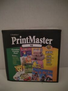 Broderbund PrintMaster 10 Publishing Suite CD