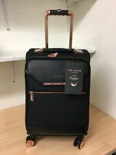 New Ted Black Small Black 4 Wheeled Trolley Case 88001