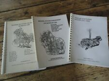 LOT 3 MANUELS ENTRETIEN GAMME MOTO SUZUKI 1994 -1998 RF900 GSX R750 RM125 etc ..