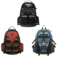 Deadpool Captain America outdoor backpack travel bag shoulder bag school bags