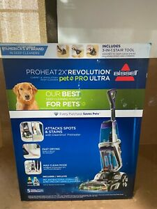 BISSELL Proheat 2X Revolution Pet Pro Ultra, Full-Size Carpet Cleaner 19863 NEW