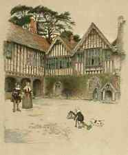 A4 Photo Aldin Cecil 1870 1935 Old Manor Houses 1920 Ightam Moat House Kent 3 Pr