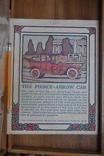 1914 PIERCE-ARROW LUXURY CAR IMAGE, DRIVER, REAR TOP DOWN, BUFFALO, NY