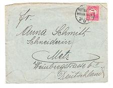 Ungarn Briefmarken Brief 1907 nach Metz Mi 60