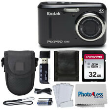 Kodak PIXPRO Friendly Zoom FZ43 16 MP Digital Camera (Black) + Great Accessories