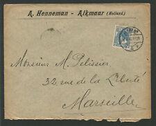 Pays-Bas Nederland timbre sur lettre oblit. Alkmaar /L2221