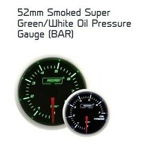 Prosport 52mm Super Smoked Green / White Oil Pressure Gauge BAR
