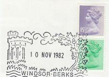 (66677) GB Used 15.5p 12.5p ex Chritmas Booklet Pane 1982 ON PIECE