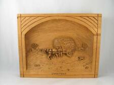 QUEBEC FOLK ART WOOD CARVED WALL PLAQUE ``L`HABITANT`` SIGNED GUY LEMIEUX