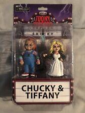 NECA Toony Terrors Bride of Chucky 2 Pack Action Figures (Chucky & Tiffany) NEW