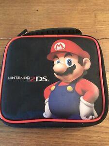Nintendo 2DS/3DS XL Mario Kart Game Traveler Case Super Mario Handle Black Red