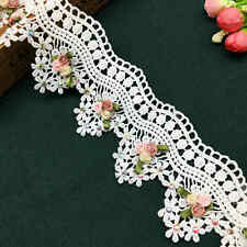 laverslace Beautiful White Cotton Broderie Anglaise Eyelet Lace Trim 27mm