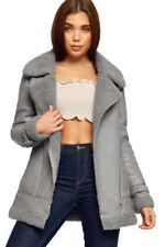 Cappotti e giacche da donna grigi pelliccia nessuna fantasia