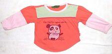 EUC Baby Girl's Size 86 / 18 - 24 Months Oilily Panda Long Sleeve Tee Top Shirt