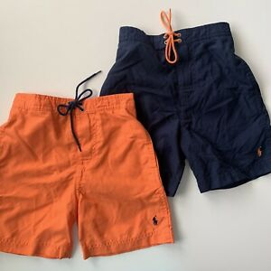 NWT Polo Ralph Lauren Boys / Toddlers Swim Trunks Navy or Orange Size 4-6