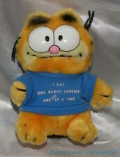 "Vintage 1981 80s Dakin Plush 6"" Garfield The Cat w/Girl Scout Cookies Tee Korea"