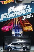 HOTWHEELS  PAUL WALKERS NISSAN SKYLINE FAST AND FURIOUS DAMAGED BUBBLE OR CARD