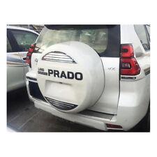 Chrome Rear Spare Tires Cover Trim + Prado For Toyota Prado Fj150 2014-2018
