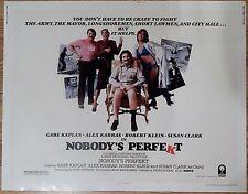 AUTHENTIC 1981 NOBODYS PERFEKT MOVIE THEATER POSTER AD*KAPLAN*KLEIN*KARRAS*CLARK