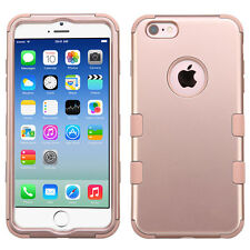 iPhone 6 / 6S - ROSE GOLD Hybrid Armor Shockproof Hard&Soft Rubber Cover Case