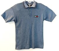 Vintage Tommy Hilfiger Golf Polo Blue Shirt Short Sleeve Size Medium