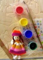 Wooden MINI PARK / PLAYGROUND Paint N Transfer MAKE YOUR OWN Kit+doll