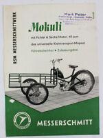 RSM Messerschmitt Motorrad Oldtimer Original Prospekt 1960er Sachs 5.1 448 DL1