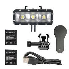 Waterproof LED Flash Light Dual Battery for GoPro Hero 6 5 4 3+ 3 2 1 Xiaoyi 4K+