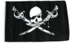 "12x18 12""x18"" Jolly Roger Pirate Brethren of Coast Sleeve Flag Boat Car Garden"