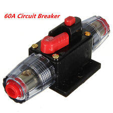 DC 12V Car Stereo Audio Inline Circuit Breaker Fuse System Protection 60A 60AMP