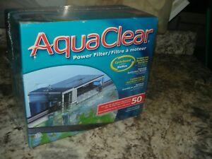AquaClear 50 Power Filter 20 - 50 gallon Aquariums New and Sealed Bin 917