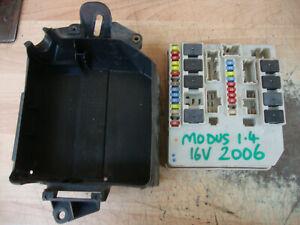 2006 RENAULT MODUS 1.4 16V PETROL UNDER BONNET FUSE BOARD UPC