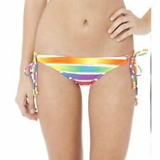 NWT  O'NEILL METALLIC RAINBOW SIDE TIE BIKINI BOTTOM ONLY S SMALL