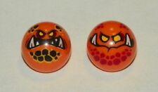 LEGO - Technic Ball Joint with Globlin Pattern 1 & Globlin Pattern 2 - Orange