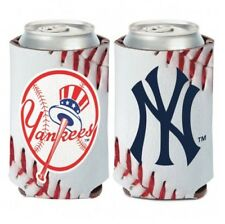 """NEW YORK YANKEES """"BALL DESIGN"""" 2 SIDED CAN COOLER/KOOZIE NEW AND LICENSED"""