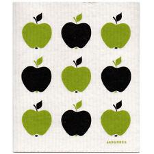 NEW Apples Black and Green Design Eco Friendly Kitchen Dishcloth