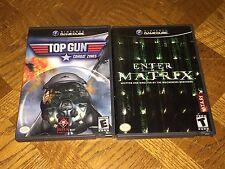 Enter the Matrix & Top Gun Combat Zones Nintendo GameCube Wii