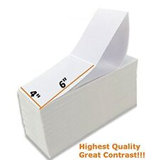 4000 Labels Fanfold 4x6 Direct Thermal Label Shipping Zebra ZP450 ZP505 1000
