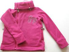 Fleece Jacke Gr.140 Pampolina NEU m.E Glitzer Schleife pink kinder