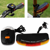 Pop Universal 7 LED Bike Bicycle Cycling Stop Brake Light Turn Signal Night Lamp